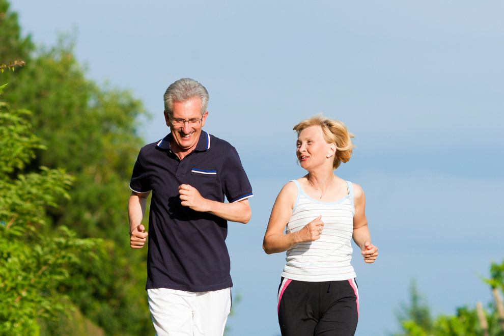 image of a couple jogging