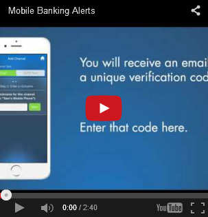 Image of the Mobile Banking Alerts YouTube Video