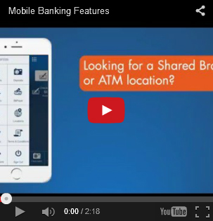 Image of the Mobile Banking Features YouTube Video