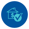 House and checkmark icon